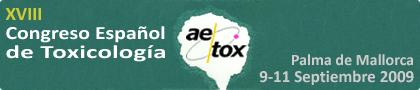 XVIII Congreso Español de Toxicología (AETOX 2009)