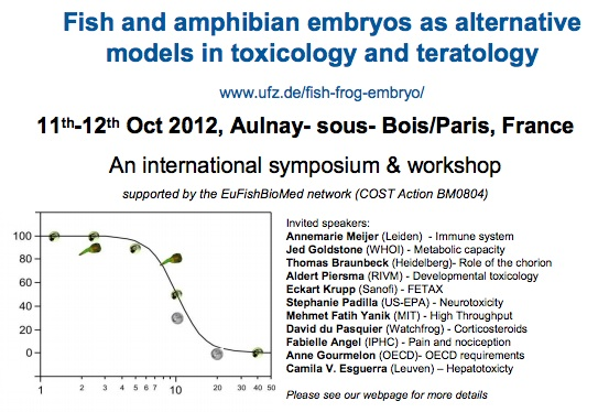 Fish and amphibian embryos as alternative models in toxicology and teratology